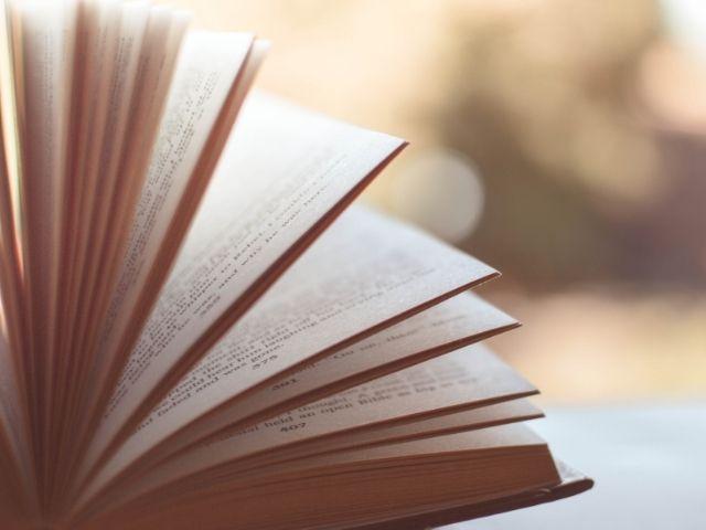 ページをめくられる本