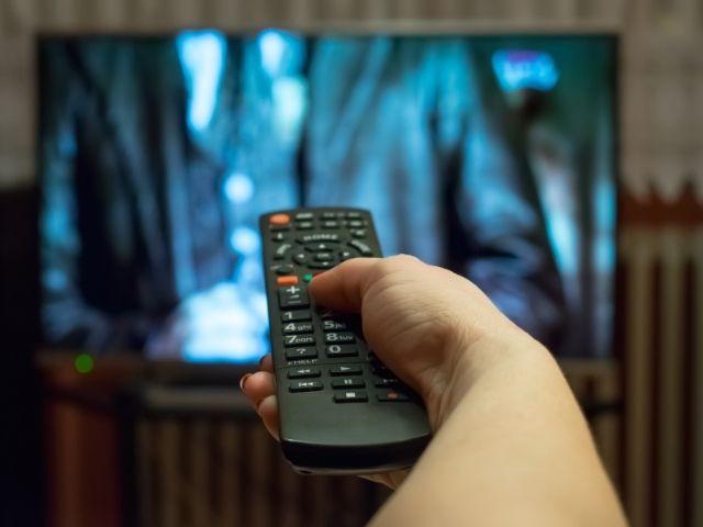 テレビ番組を観る人