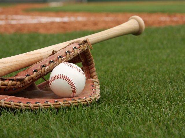 野球バットとボール