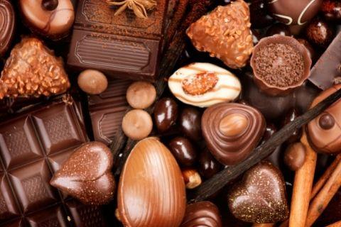 多くの種類のチョコレート